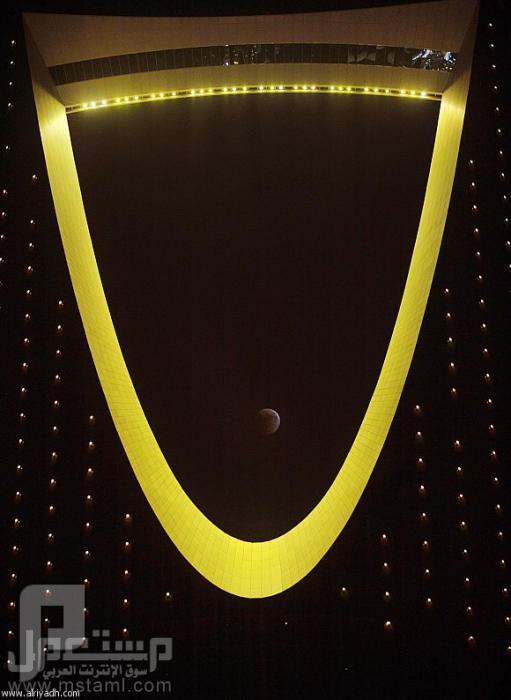 صور جميلة وغريبة وطريفة برج المملكة ليلأ