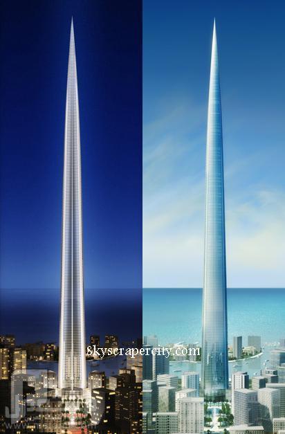 السعودية تبدأ في بناء أطول برج في العالم ! ! ! وهذة صورة تبين تفاصيل البرج واستخدامات الطوابق