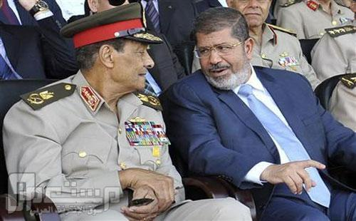 مؤامرة تحيط بالرئيس محمد مرسي الرئيس محمد مرسي والمشير طنطاوي