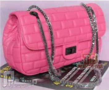 شنط نسائية ماركات عالمية شانيل CHANNEL شنطة تقليد ماركة شانيل CHANNEL اللون الوردي السعر 350 ريال