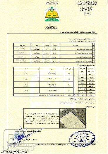 إصدار أول صك ملكية في المملكة بنظام التسجيل العيني للعقار من حريملاء