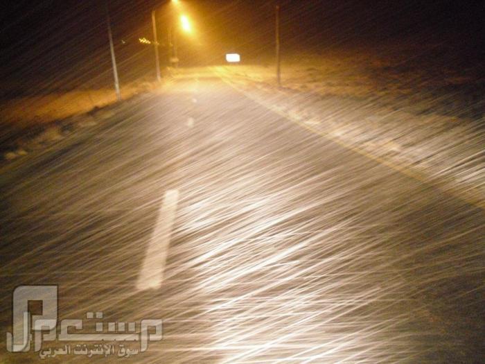 أمطار وثلوج العاصفة الثلجية على الأردن وفلسطين ولبنان وسوريا وشمال السعودية