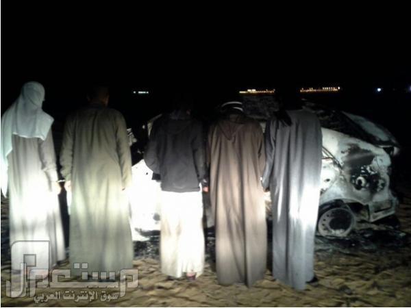 5 شباب بالرياض سرقوا سيارة وفحطوا بها وحرقوها