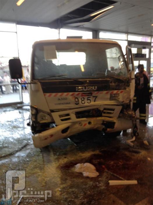 حادث صالة الحجاج بمطار جدة فيديو