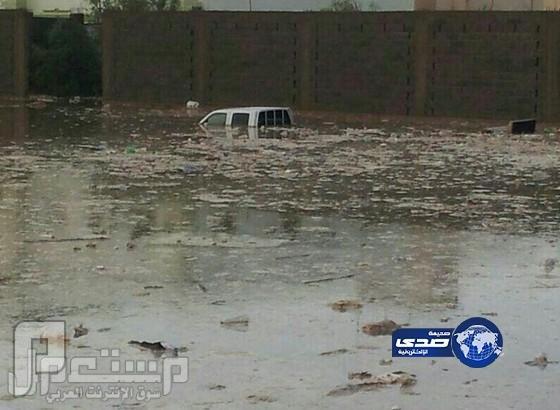 صور مفزعة جداً لما حدث في وادي الدواسر جراء الامطار الغزيرة