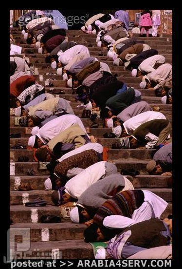 عندما يحين وقت الصلاه لا احد يمنعنا من ادائها على المدرجات