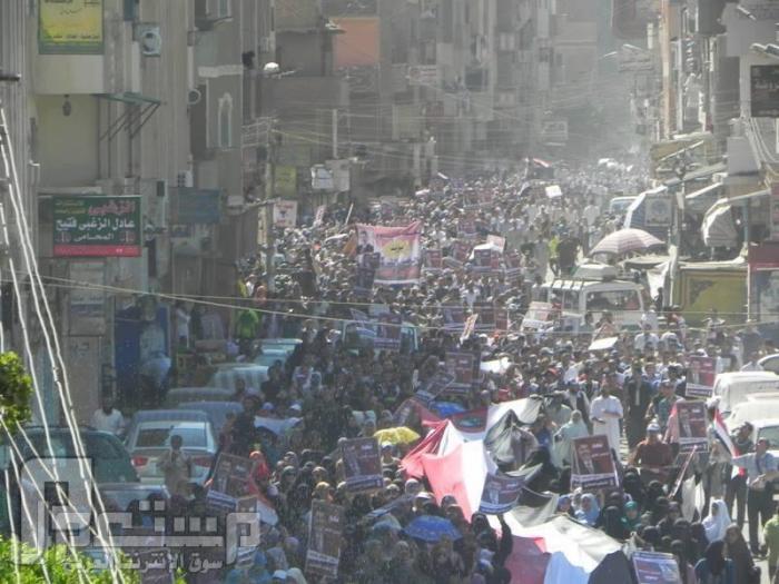 لا يفوتك : فيديو صدمة وإحراج على الهواء بقناة ساويرس من مسيرة مؤيدة لمرسي