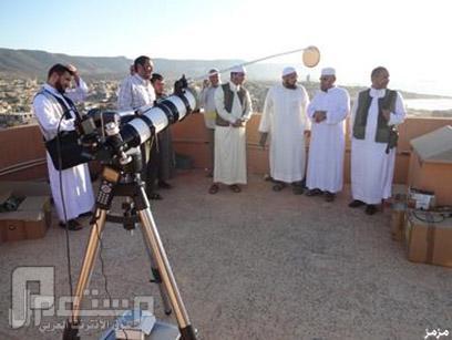 توقع المشروع الإسلامي لرصد الأهلة، أن تعلن الدول الإسلامية التي تكتفي بالحس