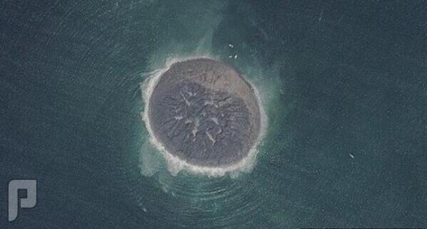 صورة الجزيره التى ظهرت في بحر العرب بعد زلزال باكستان الاخير