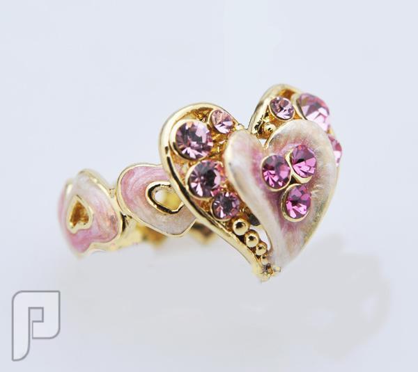 تشكيلة مجوهرات رقم 1 : خواتم , بروشات , أساور , سلاسل , كوليهات خاتم القلب الرقيق بنفسجي اللون ماركة efine السعر 65 ريال