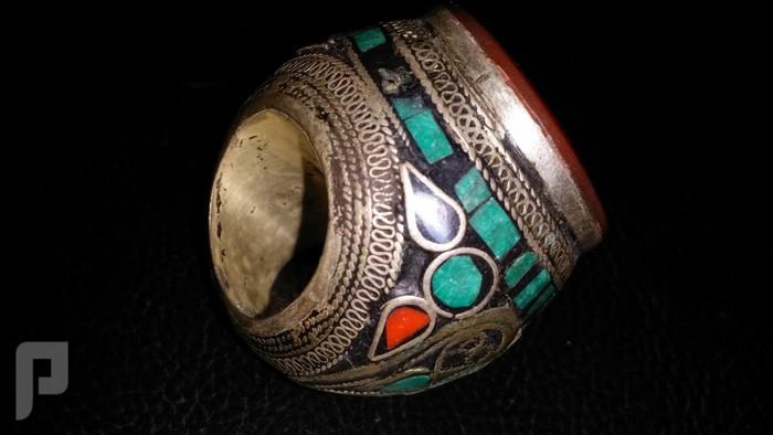 مجموعة من الخواتم والاختام الايرانية التراثية  من الفضة والعقيق البند 3