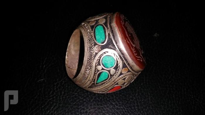 مجموعة من الخواتم والاختام الايرانية التراثية  من الفضة والعقيق البند 4