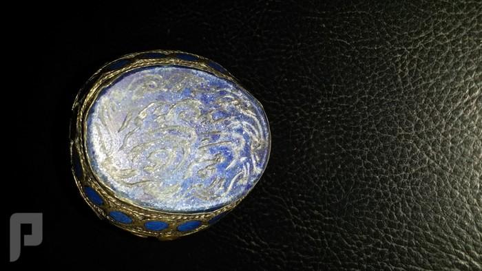 مجموعة من الخواتم والاختام الايرانية التراثية  من الفضة والعقيق البند 5