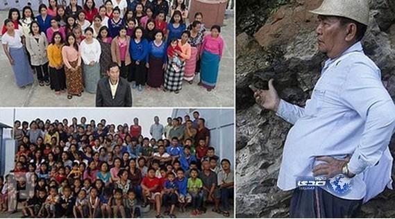 هندي ينجب 127 ولداً من 37 زوجة ويعيشون في منزل واحد