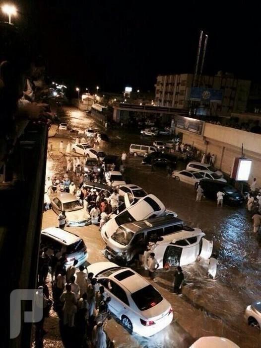 صور كارثة أمطار جدة تتكرر في مكة بشكل مصغر ... والله المستعان