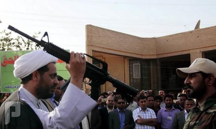 عاااجل تم افتتاح اسواق ببغداد بااسم سوق داعش(اهل السنة) قيس الخزعلي قائد العصائب يكرم المقبور في الفلوجة