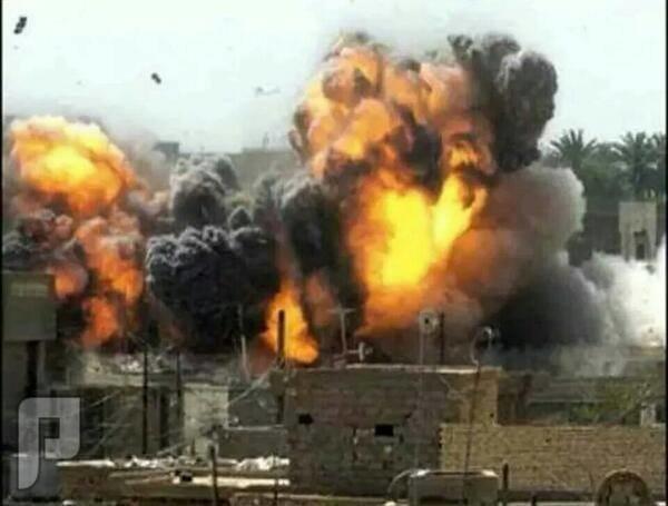 لحضة قصف مدينة الفلوجة بالصور بالبراميل والصواريخ