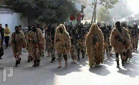 مجزرة الفلوجة من جيش المالكي والعصائب استعراض العصائب ببغداد