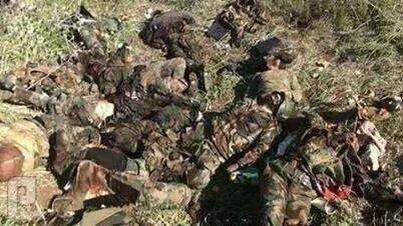 مجزرة الفلوجة من جيش المالكي والعصائب قتلا العصائب بالفلوجة
