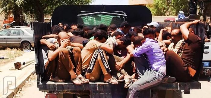 اسرى جيش المالكي بقبضة الثوارالسنة بالعراف
