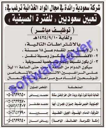وظائف للجنسين في بعض مناطق المملكة (الجزء الأول) 1435 وظائف في جميع مناطق المملكة