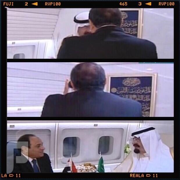 خادم الحرمين الشريفين رغم مرضه .. يزور مصر ..