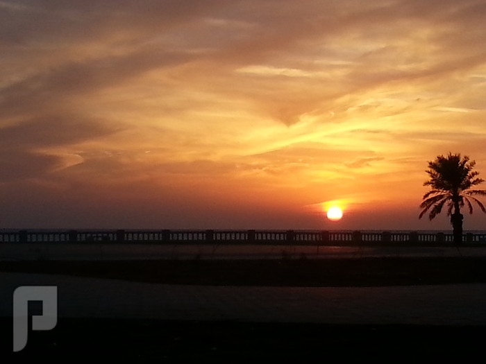 مناظر وصور من ينبع البحر لحظة الغروب من كورنيش الشرم