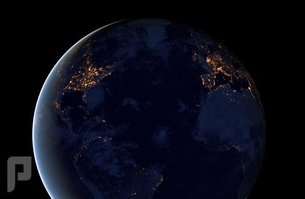 الكرة الأرضية ليلاً