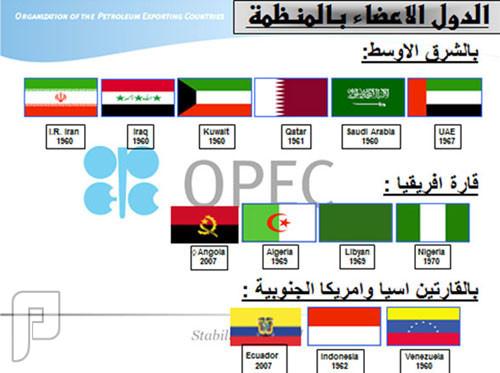 السعودية ونتائج اجتماع منظمة أوبك 2015 الدول الاعضاء بمنظمة اوبك الشرق الاوسط افريقيا اسيا وامريكا الجنوبية