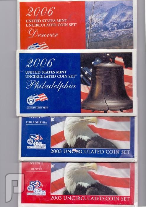مجموعات المنت الامريكية للسنوات  1999-2000-2001-2002-2003-2006