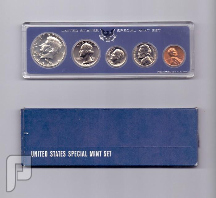مجموعات المنت الامريكي الاصدار الخاص بنصف دولار افضهلسنة 66و67