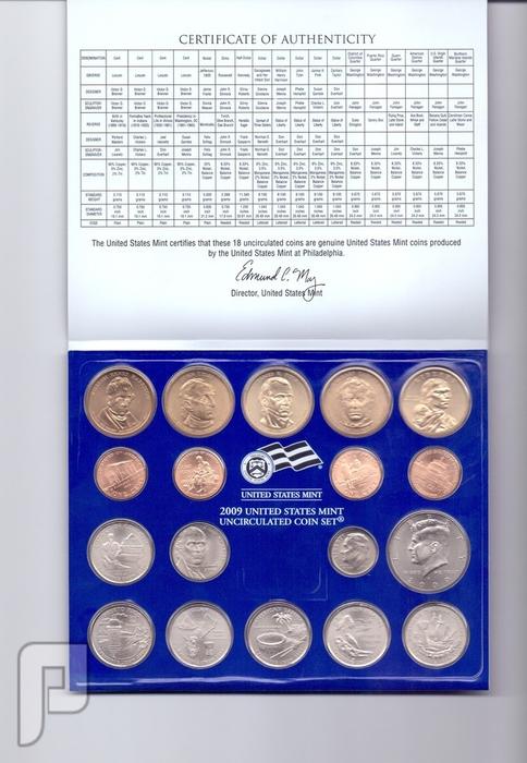 مجموعات المنت الامريكية لسنوات 2009و2010 بمجموع 36 قطعه لكل سنة