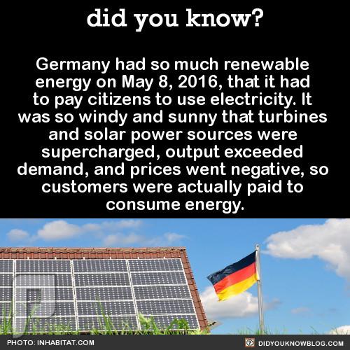 المانيا تدفع المال لمن يستخدم الكهرباء !