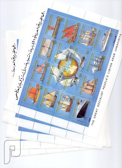 مجموعات شيتات طوابع ليبيه قمه الجمال والندرة---2 البند 3