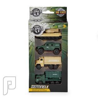 مجموعة سيارات حربية حديد ألعاب