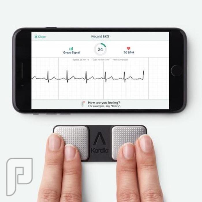 جهاز Kardia لتخطيط القلب وقياس النبض