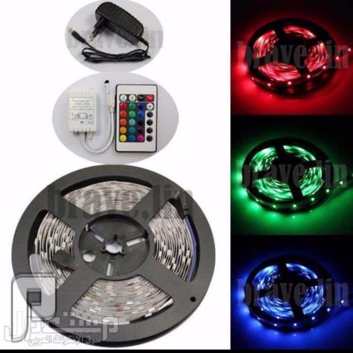 إضاءة LED  طول 5 متر ريموت كنترول  16 لون