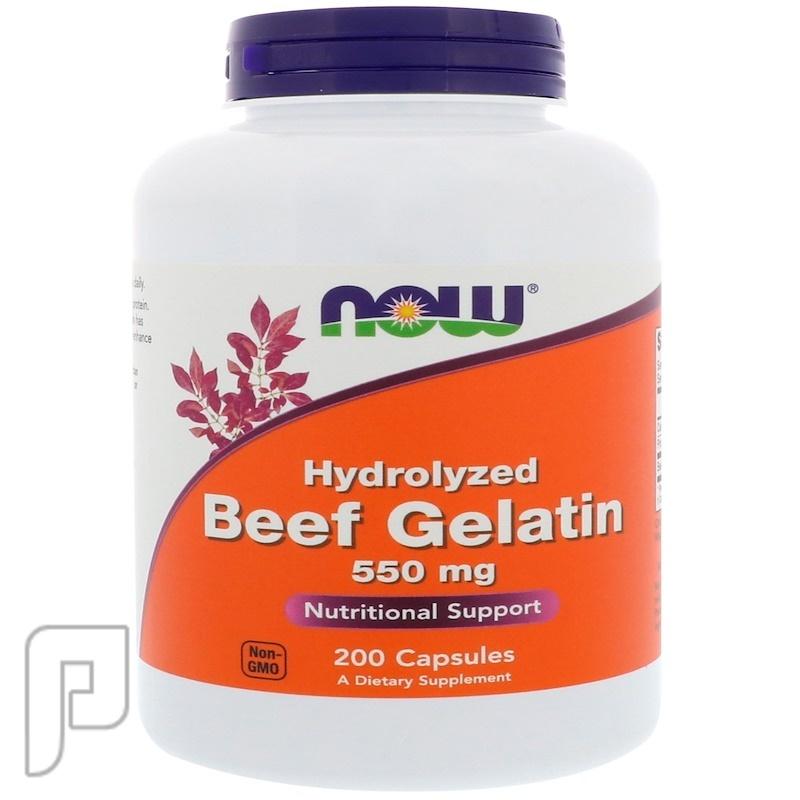 كبسولات الجيلاتين البقري لعلاج احتكاك المفاصل.