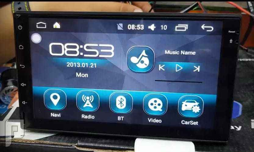 شاشة اندرويد للسيارة اصدار 8   .  7 بوصة الذاكره 16 جيجا