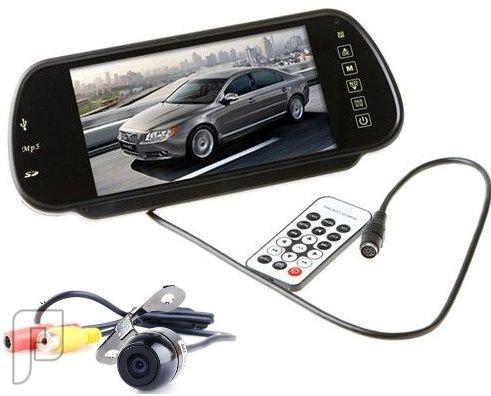 شاشة لتشغيل الوسائط بالسيارة مع كاميرا خلفية