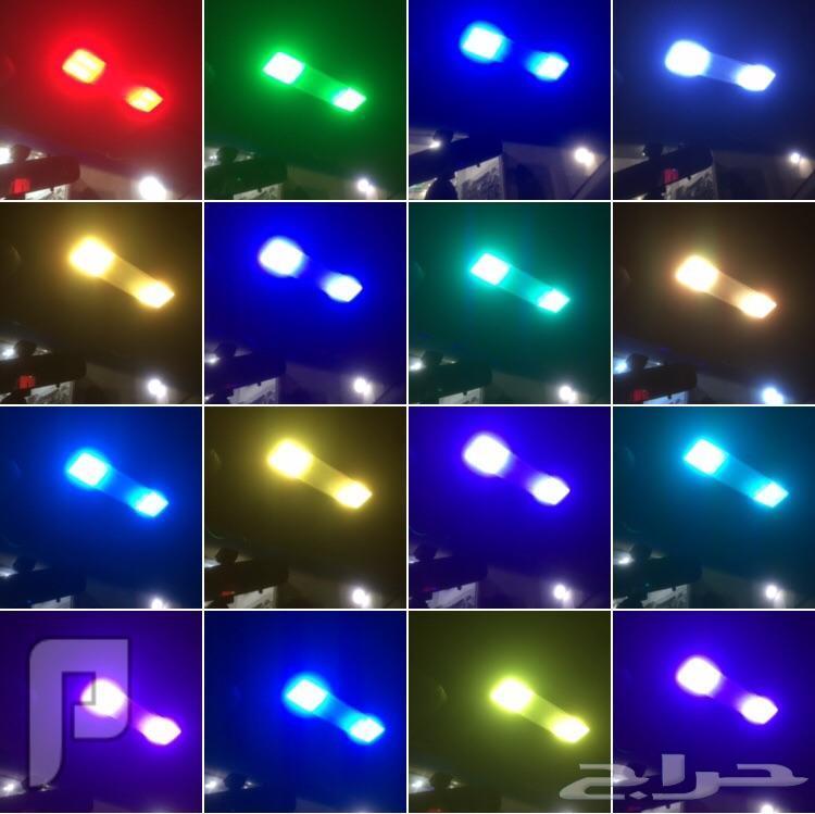 اضاءة ليد داخلية للسيارة  16 لون مع حساس صوت 94  ريال فقط