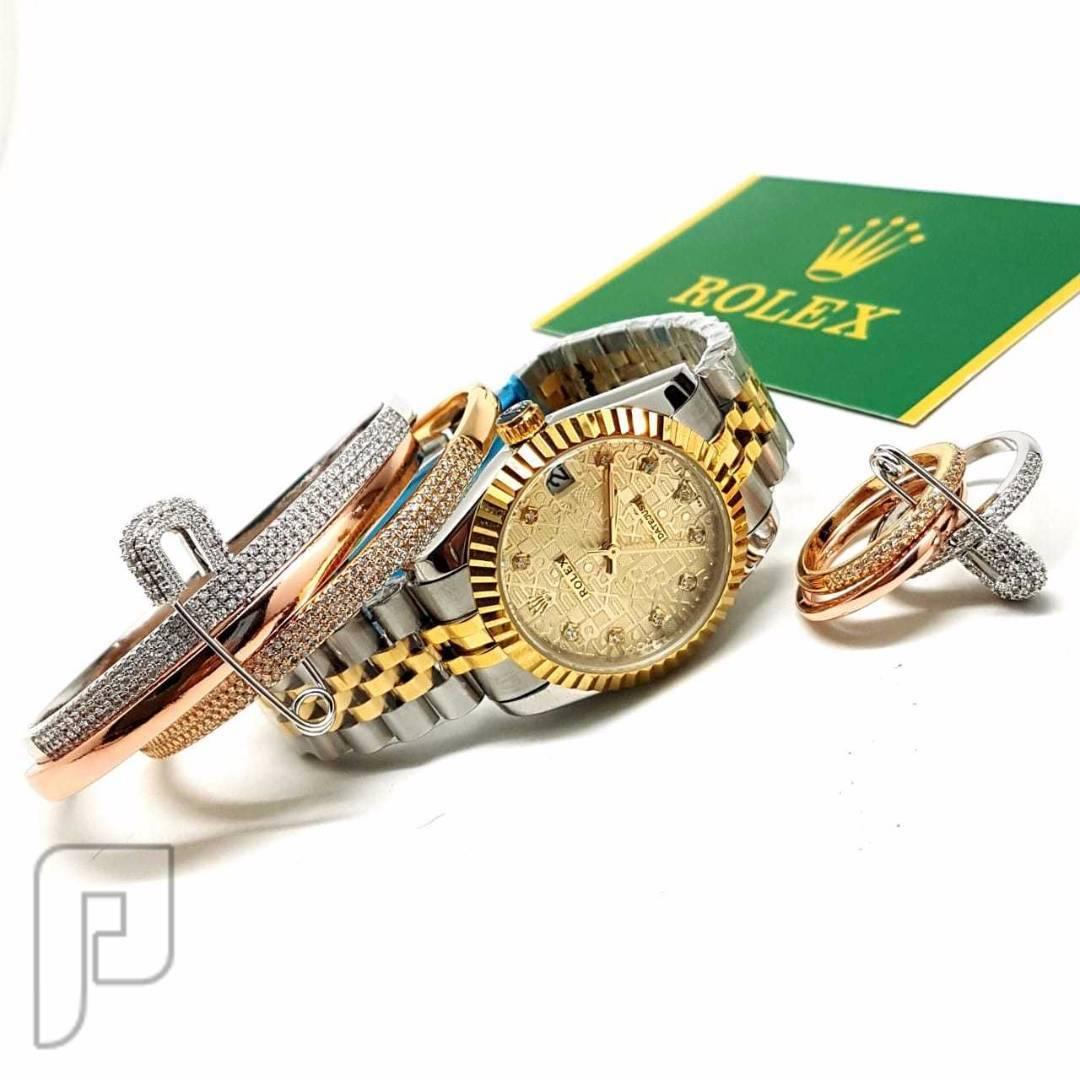 ساعة رولكس نسائي (ماركة اصليه )سعر الحبه بسعر الجمله😱