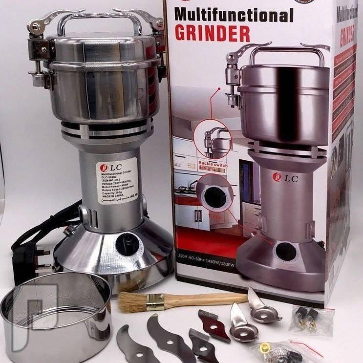 ماكينة طحن القهوة والبهارات المنزلية ستيل ضمان سنتين باحجام مختلفة