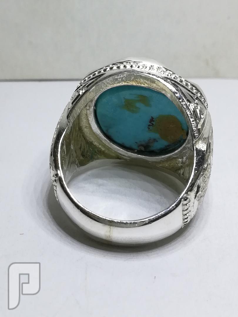 خاتم فيروز كرماني صافي وطبيعي