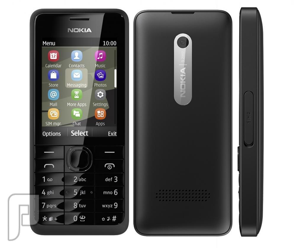 جوال نوكيا Nokia 301 شريحه - جديد