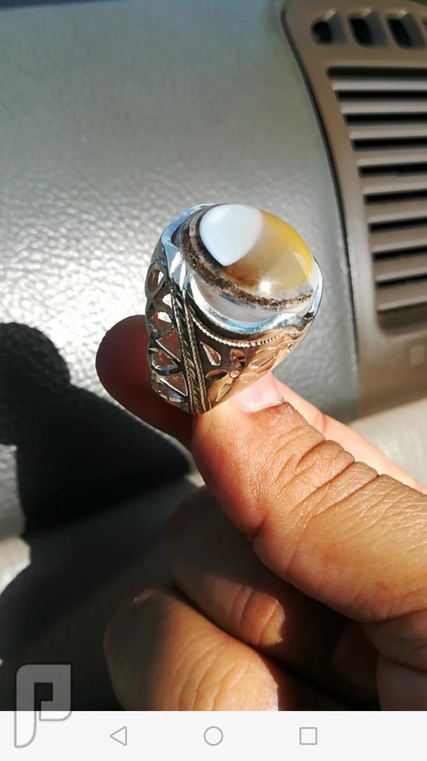 خاتم عقيق يماني طبيعي مصور ابوهلال هلالي