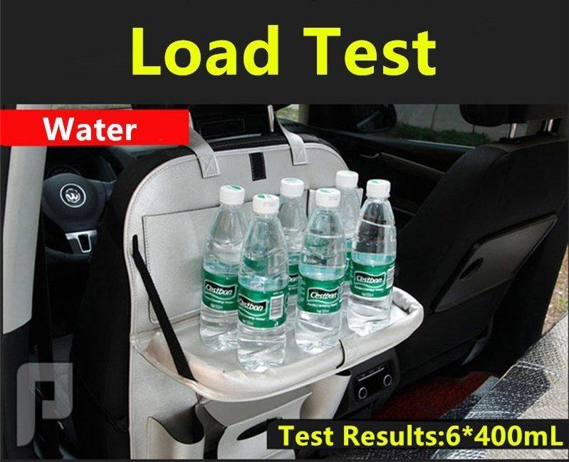 منظم مقعد السيارة الخلفي جلد – طاولة وحامل للجوال والايباد
