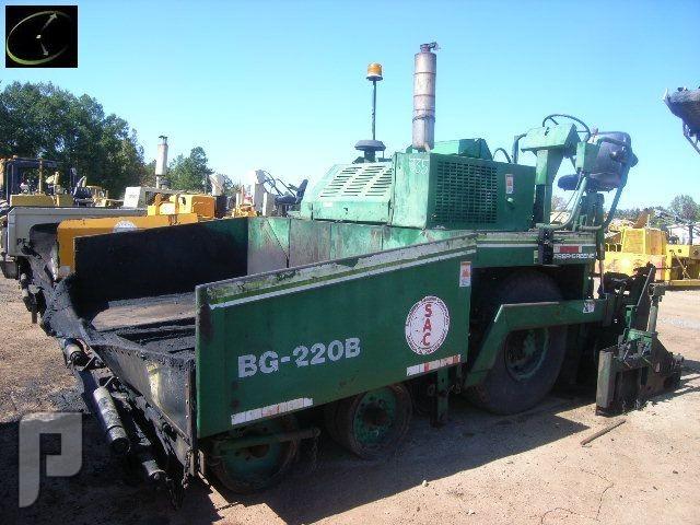 IT# 335 1989 BARBER-GREENE BG-220B ASPHALT PAVER SNBG220B371