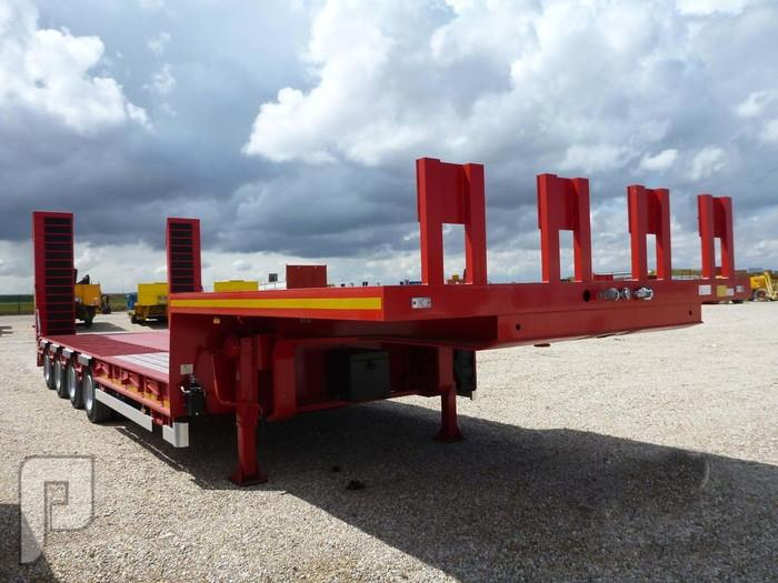 IT# 2214-2013 LECINENA SR4EG 92 Ton QuadA Step Deck Trailer