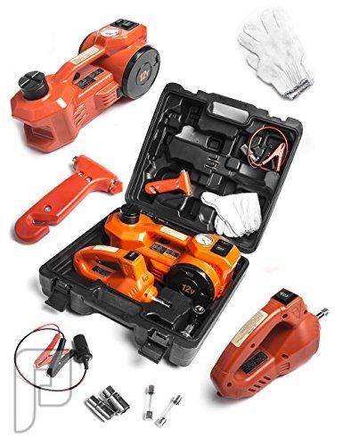 رافعة 3 طن للسيارات مع منفاخ ومفك كهربائي لفك الكفرات والصواميل